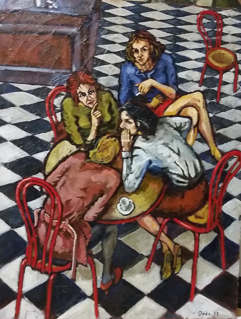 comari (2013) - olio su tela 70 x 90