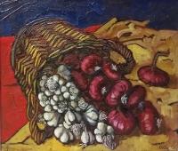 agli e cipolle (2013) - olio su tela 70 x 60